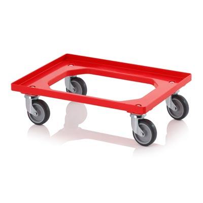 Carro rodante rojo