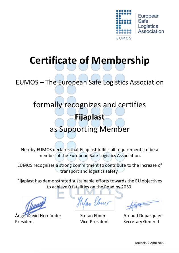 Certificado European Safe Logistics Association
